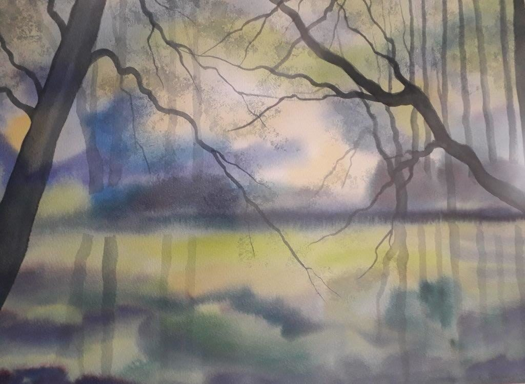 Aquarell von Elfriede Lang
