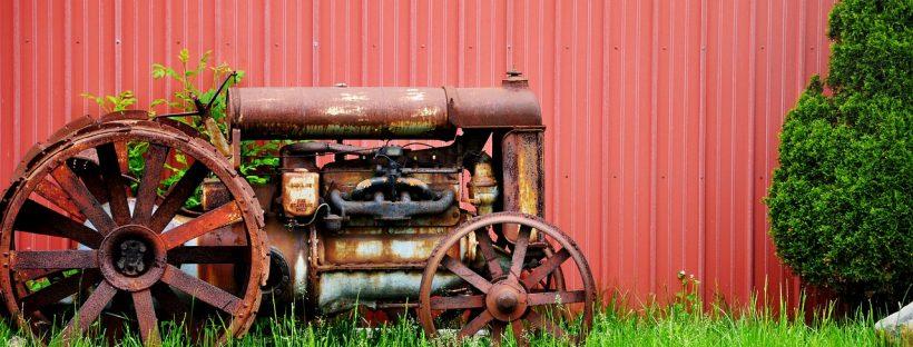 Bild Alter Traktor